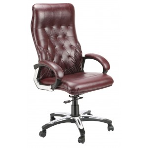 High Back Luxury Revolving Chair in Leatherite Upholstry - New Button