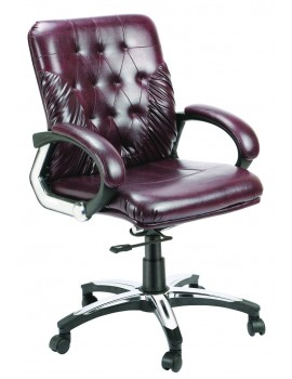 Mid Back Revolving Chair with Leatherite Upholstry  New Button Low back