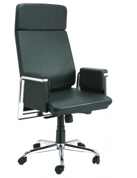 High Back Super Luxury Chair with Crome Bar in arms.