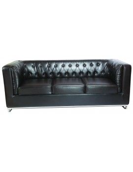 Office Sofa 3 Seater Button Design