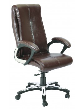High Back Luxury Revolving Chair in Leatherite Upholstry