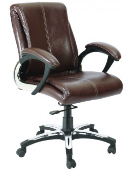 Mid Back Revolving Chair with Leatherite Upholstry.