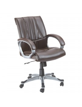 Mid Back Revolving Chair with Leatherite Upholstry. New Romeo