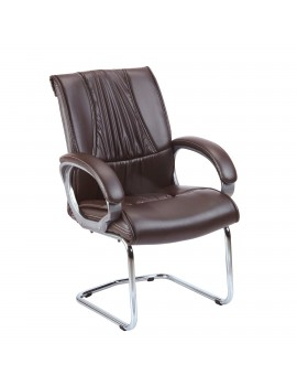 Visitor Chair with Leatherite Upholstry Premium Luxury. New Romeo