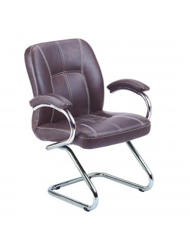 Visitor Chair Fixed with arms Iron Bar Arm Rest