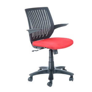Low Back Mesh Net Chair - T Arm