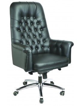 High Back Luxury Revolving Chair in Leatherite Upholstry - Luxury Button