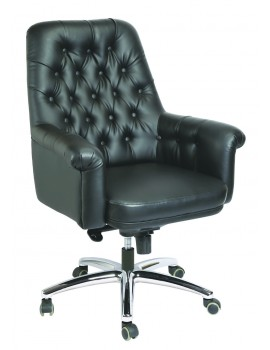High Back Luxury Revolving Chair in Leatherite Upholstry - Luxury Button Mid Back