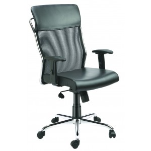 Mid Back Net Mesh Chair with PU arm rest - New Net Mid Back