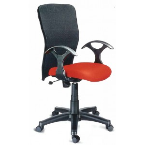 Low Back Revolving Chair in Mesh Back Design - Station Net