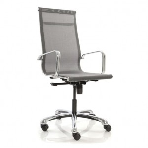 High Back Revolving Chair in Net/Mesh Fab