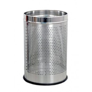 Stainless Steel Perforated Dust Bin 7 x 10